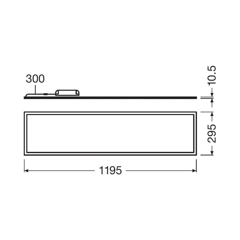 Ledvance LED Paneel 30x120cm 4000K 40W | Vervangt 2x36W