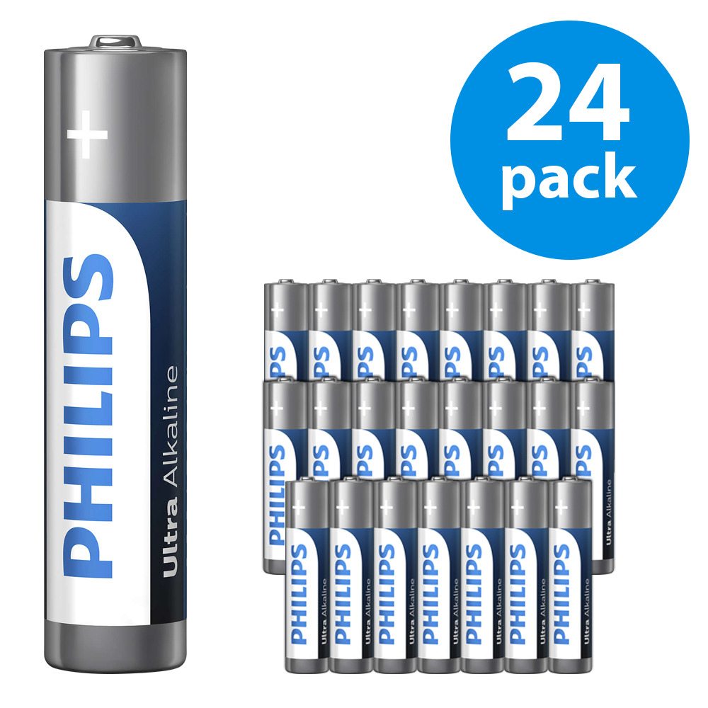 Philips Ultra Alkaline AAA / LR03 batteries | 24-pack