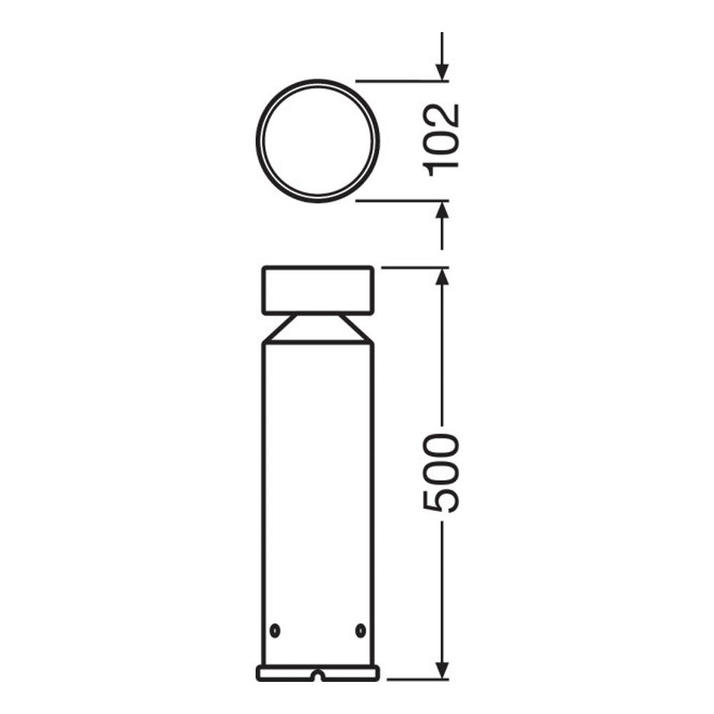Ledvance Outdoor LED Bollard Pole 50cm 6W 3000K