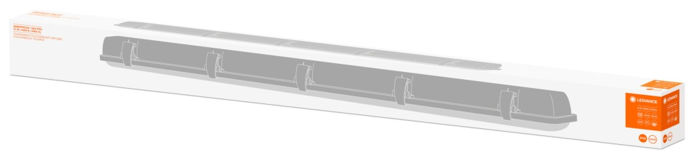 Ledvance DampProof LED 120cm 4000K IP65 2400lm   Vervangt 1x36W
