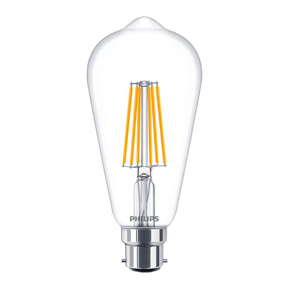 Philips Classic LEDbulb B22 ST64 8W 827 Clear | DimTone - Replaces 60W