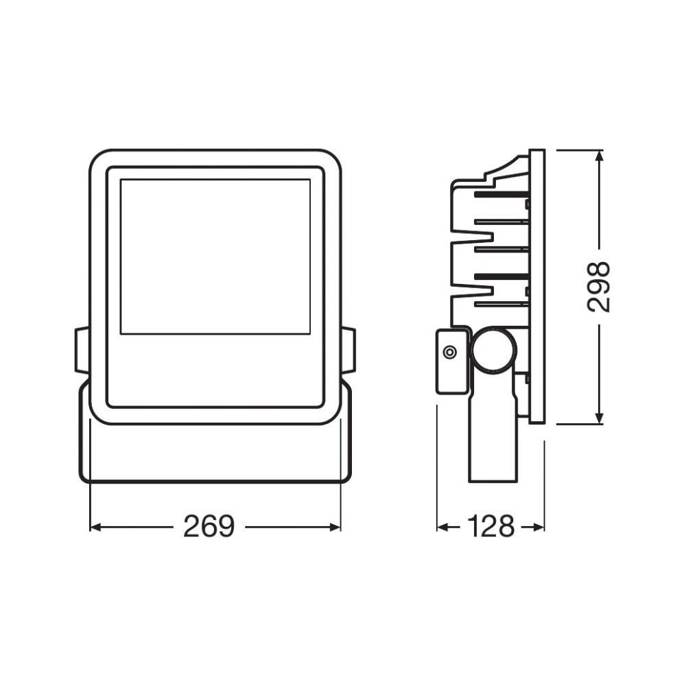 Ledvance LED Breedstraler 150W 6500K 15000lm IP65 Zwart | Vervangt 400W