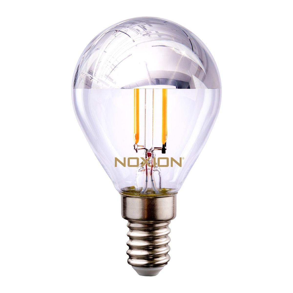 Noxion Lucent Gloeilamp LED Lustre Zilver Kopspiegel P45 E14 220-240V 4.5W 400LM CRI80 2700K ND (40W eqv)