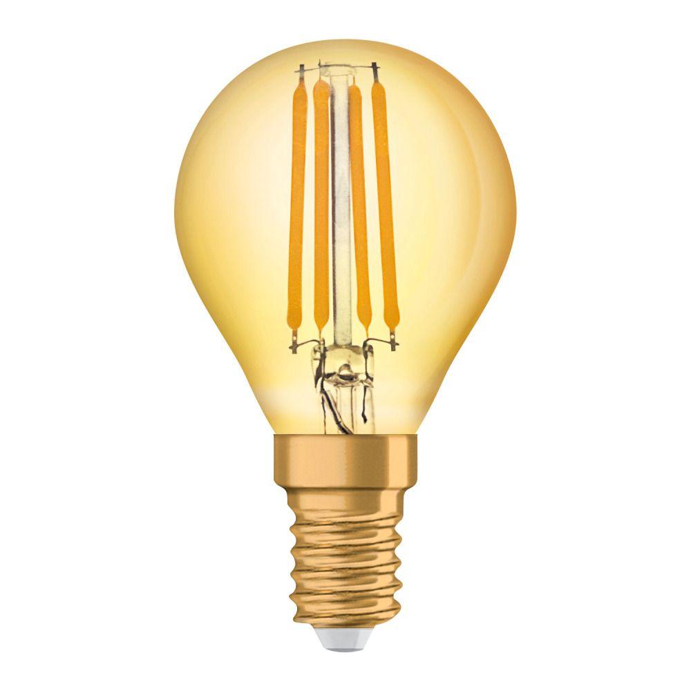 Osram Vintage 1906 LED Classic E14 P 4W 825 Kooldraad Goud | Vervanger voor 35W