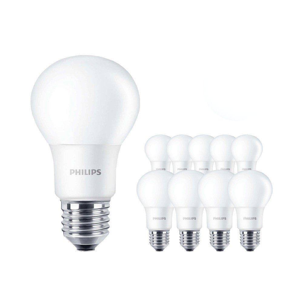 Multipack 10x Philips CorePro LEDbulb E27 A60 8W 827 Matt | Vervanger voor 60W