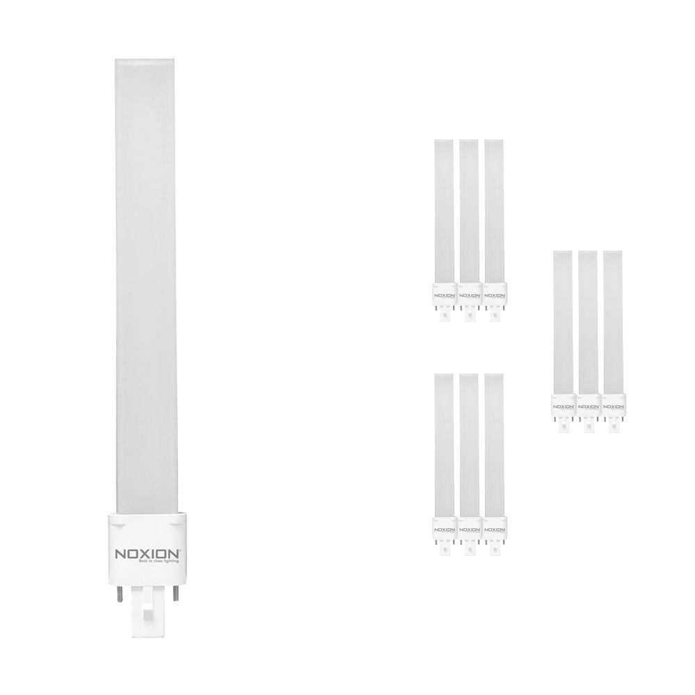 Multipack 10x Noxion Lucent LED PL-S EM 6W 840 | 2-Pins - Vervanger voor 11W