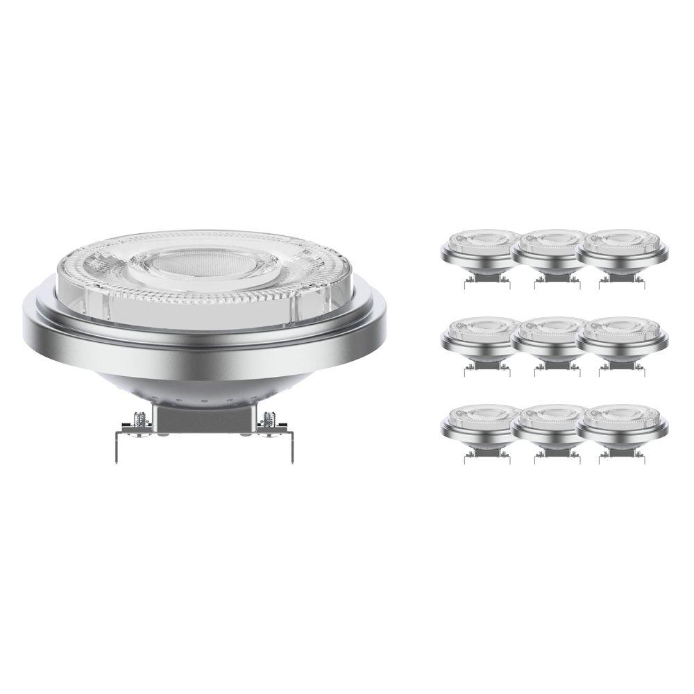 Multipack 10x Noxion Lucent LED Spot AR111 G53 12V 7.3W 930 24D | Dimbaar - Hoogste Kleurweergave - Vervanger voor 50W