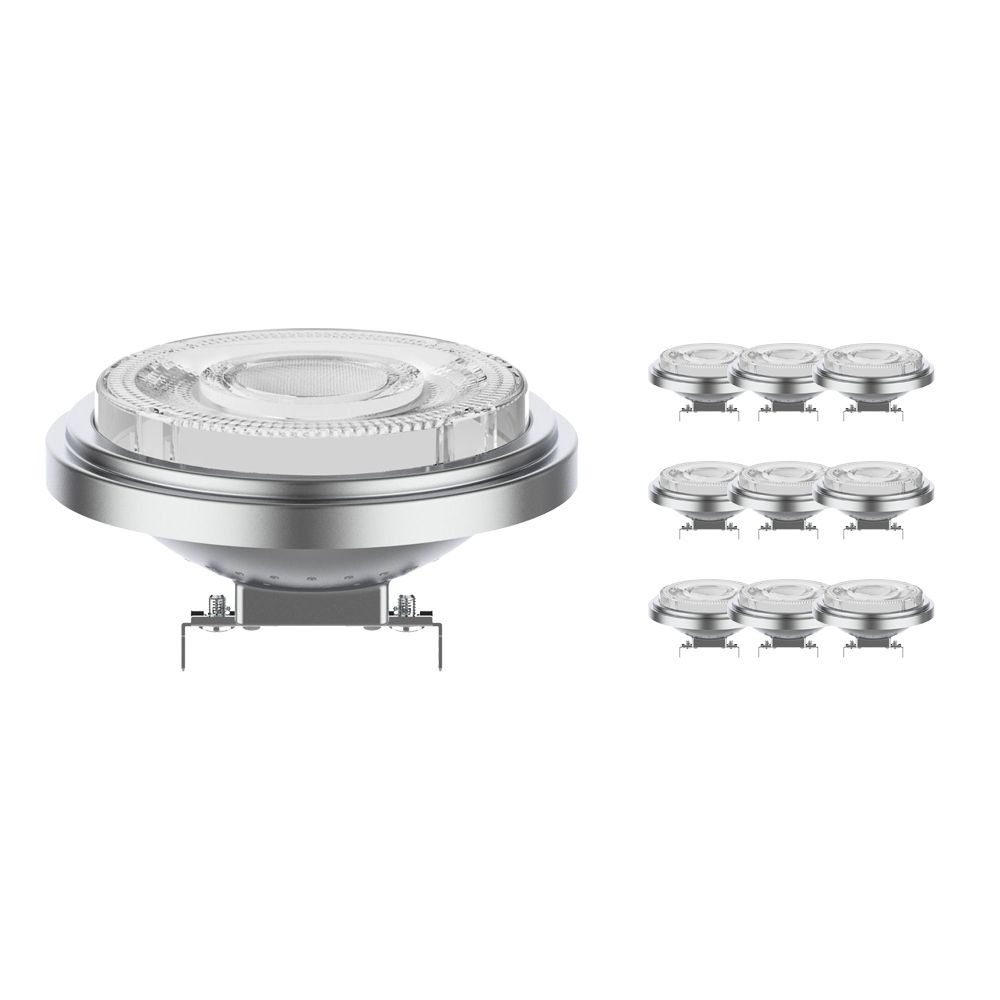 Multipack 10x Noxion Lucent LED Spot AR111 G53 12V 11.5W 927 24D | Dimbaar - Hoogste Kleurweergave - Vervanger voor 75W