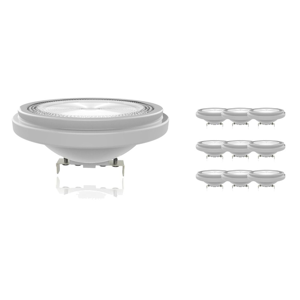 Multipack 10x Noxion Lucent LED Spot AR111 G53 12V 11.5W 927 40D | Dimbaar - Hoogste Kleurweergave - Vervanger voor 75W