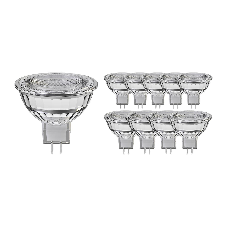 Multipack 10x Noxion LED Spot GU5.3 8W 830 60D 660lm   Dimbaar - Vervanger voor 50W