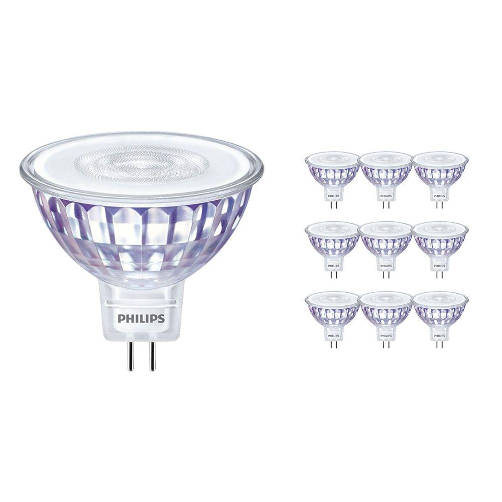 Voordeelpak 10x Philips LEDspot LV Value GU5.3 MR16 5.5W 827 36D (MASTER) | Dimbaar - Vervanger voor 35W