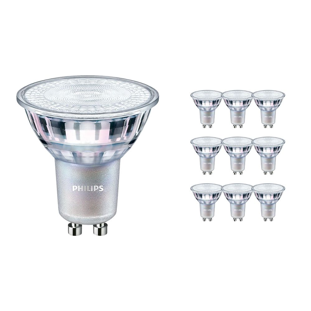 Voordeelpak 10x Philips LEDspot MV Value GU10 3.7W 927 36D (MASTER) | Hoogste Kleurweergave - Dimbaar - Vervanger voor 35W