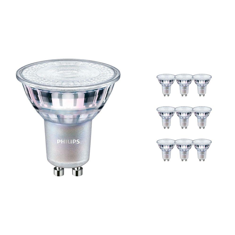Voordeelpak 10x Philips LEDspot MV Value GU10 4.9W 927 60D (MASTER)   Hoogste Kleurweergave - Dimbaar - Vervanger voor 50W