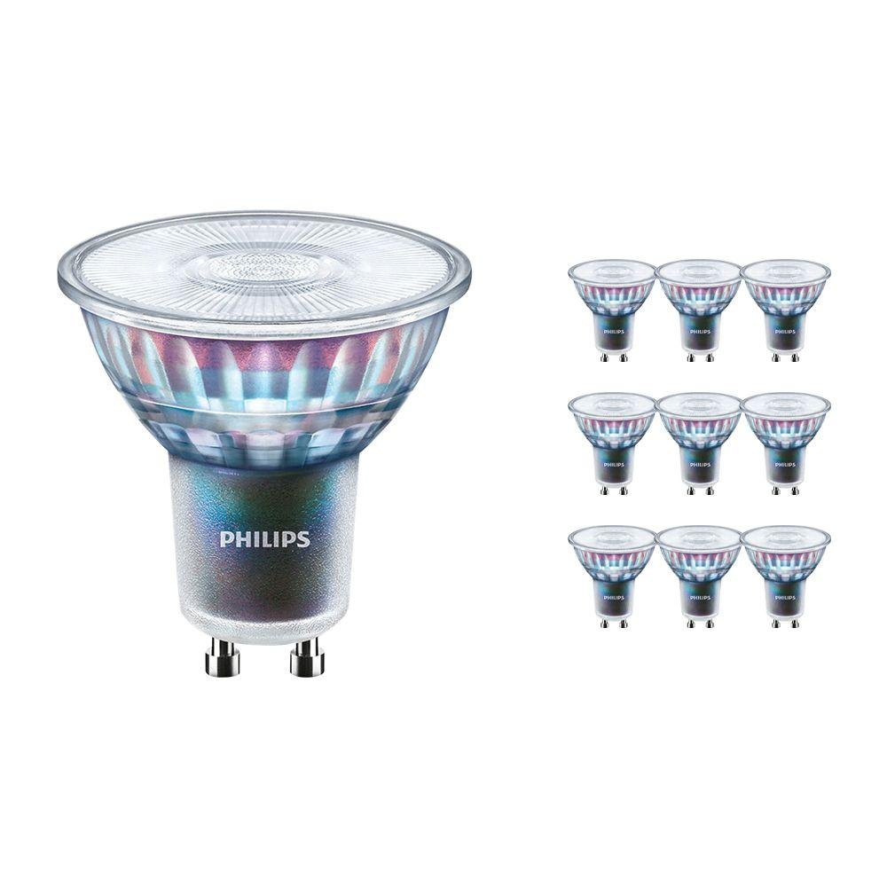 Voordeelpak 10x Philips LEDspot ExpertColor GU10 3.9W 927 36D (MASTER) | Hoogste Kleurweergave - Dimbaar - Vervanger voor 35W