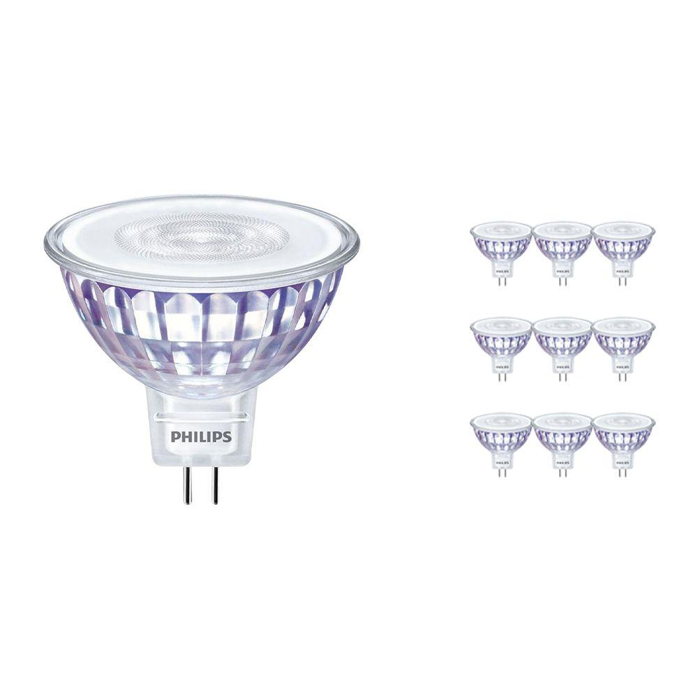 Voordeelpak 10x Philips LEDspot LV Value GU5.3 MR16 5.5W 830 60D (MASTER) | Dimbaar - Vervanger voor 35W