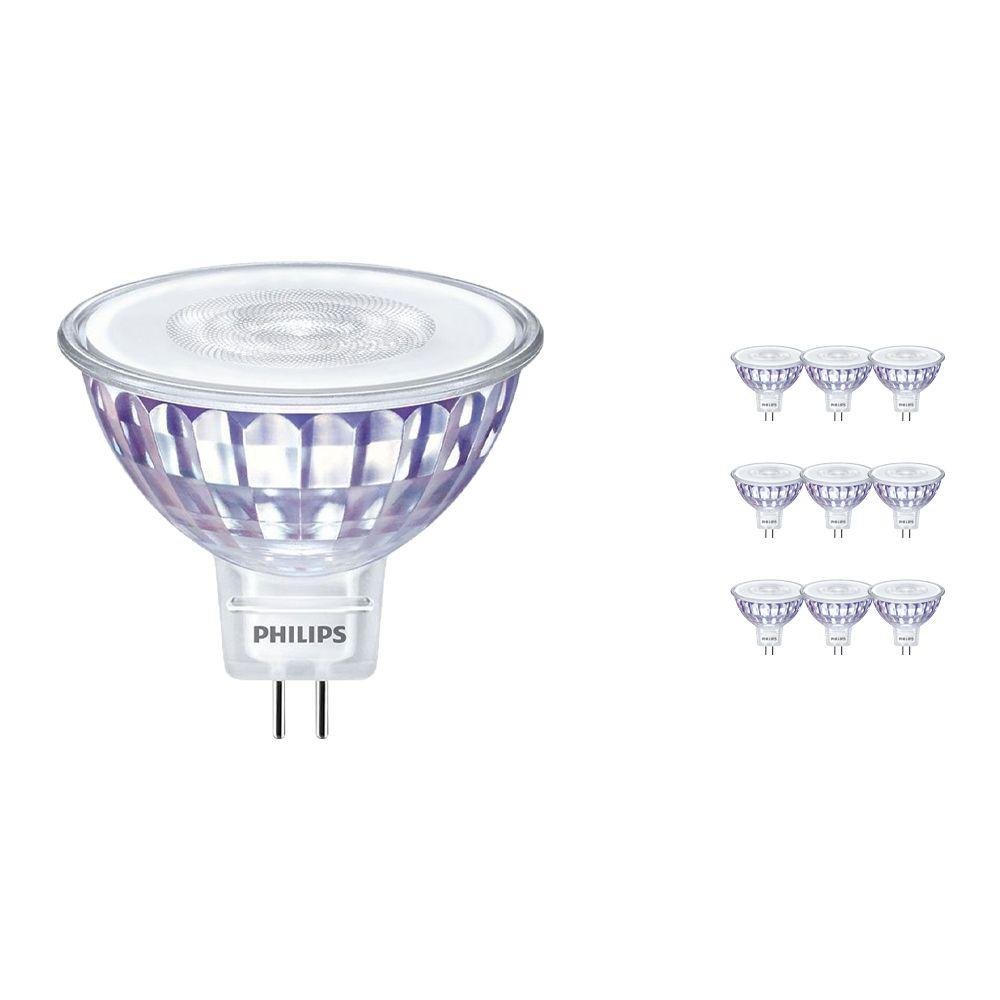 Voordeelpak 10x Philips LEDspot LV Value GU5.3 MR16 5.5W 827 60D (MASTER) | Dimbaar - Vervanger voor 35W