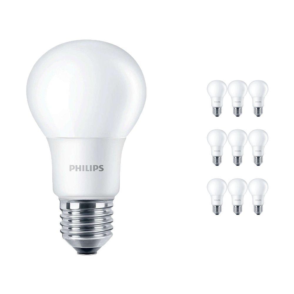 Voordeelpak 10x Philips CorePro LEDbulb E27 A60 5W 840 A60 Mat | Vervanger voor 40W