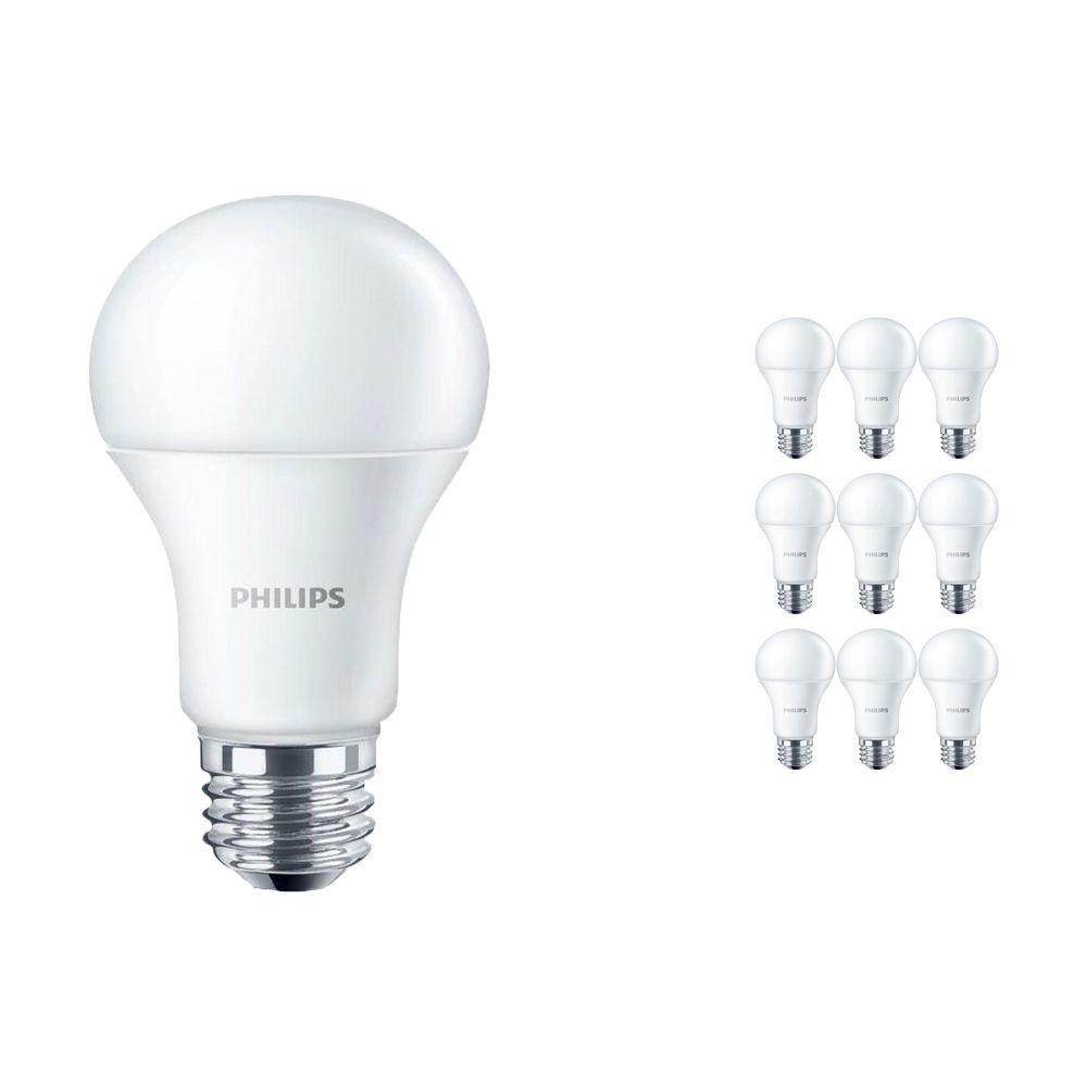 Voordeelpak 10x Philips CorePro LEDbulb E27 10.5W 830 Matt   Vervanger voor 75W