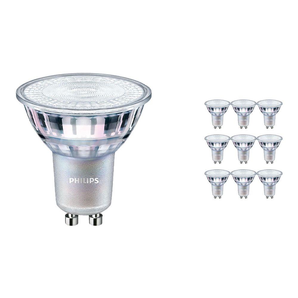 Voordeelpak 10x Philips LEDspot MV Value GU10 3.7W 930 36D (MASTER)   Hoogste Kleurweergave - Dimbaar - Vervanger voor 35W