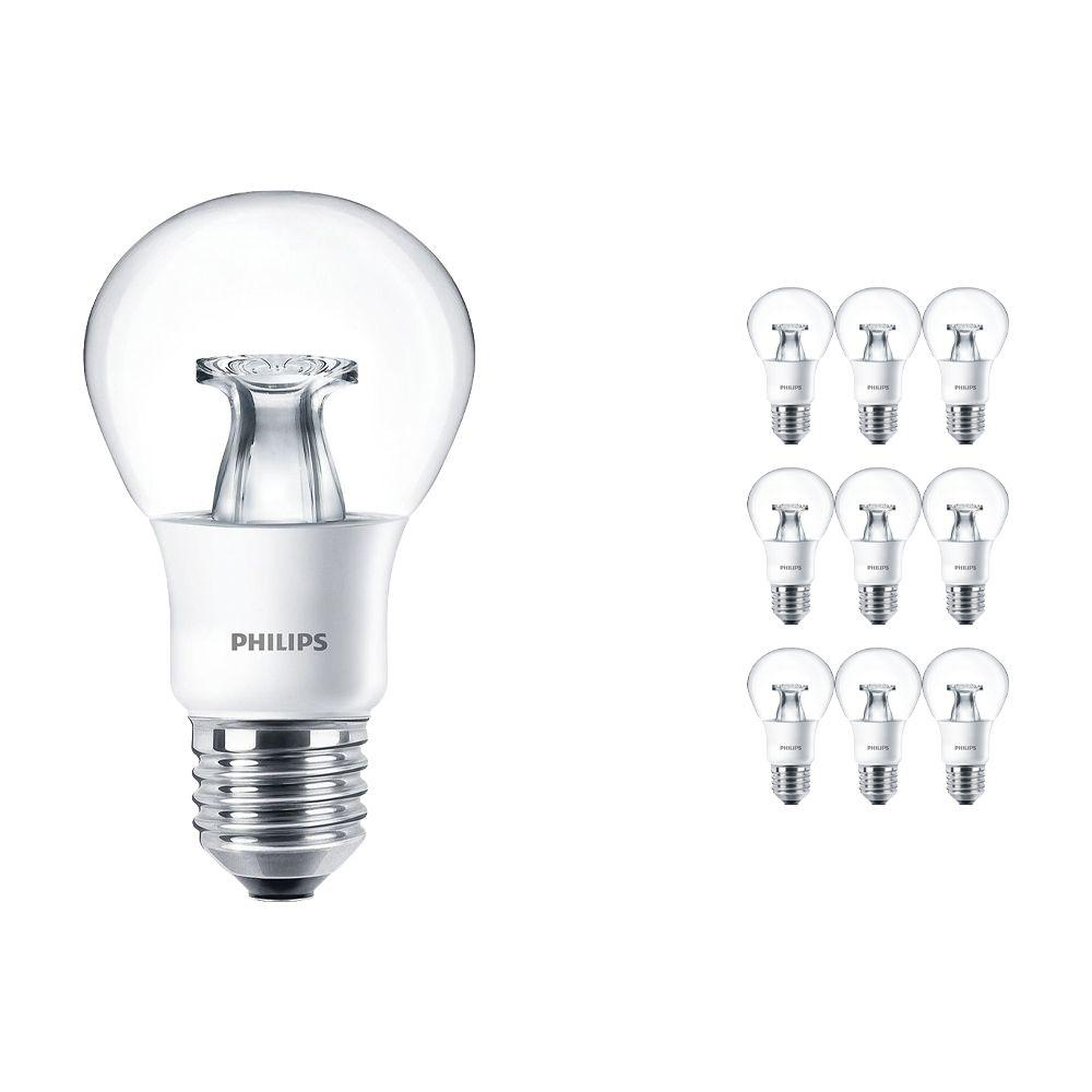 Voordeelpak 10x Philips LEDbulb E27 A60 6W 827 Helder (MASTER)   DimTone Dimbaar - Vervanger voor 40W