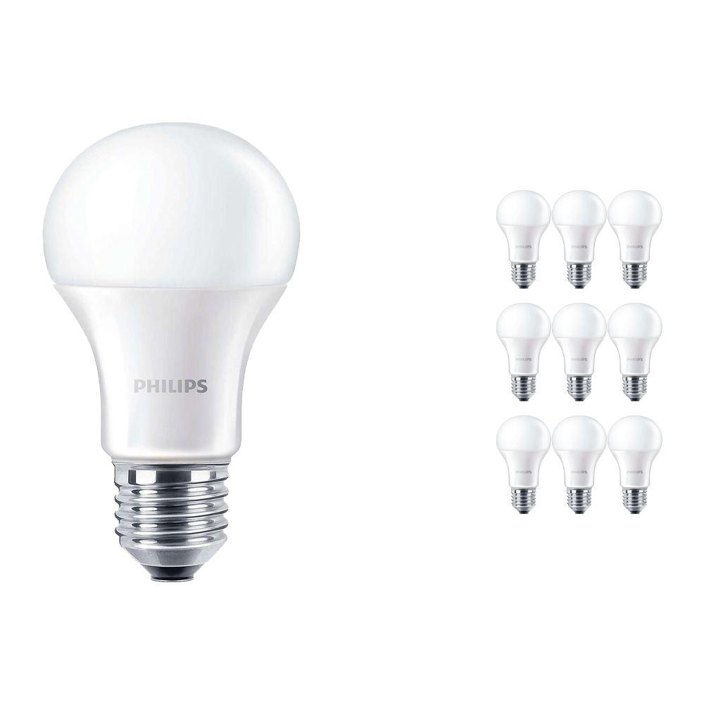 Voordeelpak 10x Philips CorePro LEDbulb E27 A60 13W 830 Matt | Vervanger voor 100W