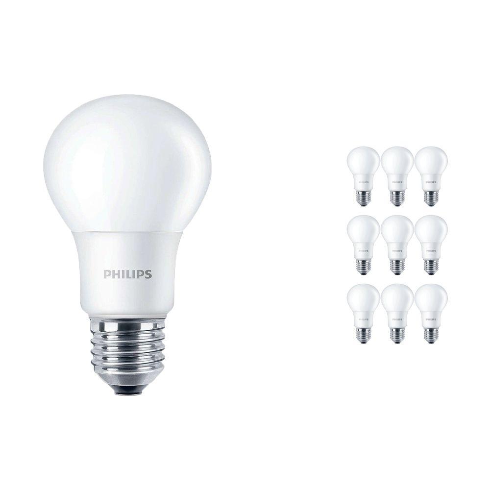 Voordeelpak 10x Philips CorePro LEDbulb E27 A60 7.5W 840 A60 Mat   Vervanger voor 60W
