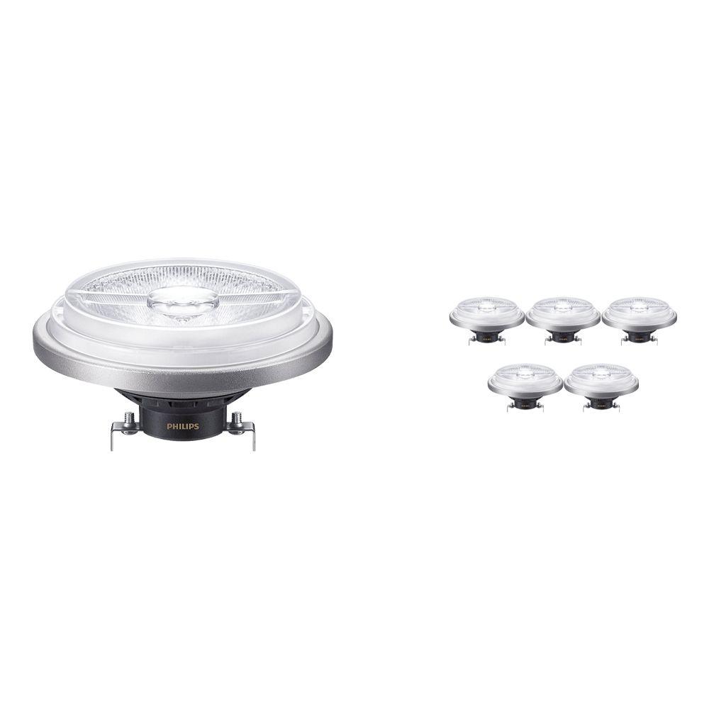 Voordeelpak 6x Philips LEDspot ExpertColor G53 AR111 (MASTER) 11W 927 24D | Hoogste Kleurweergave - Vervanger voor 50W