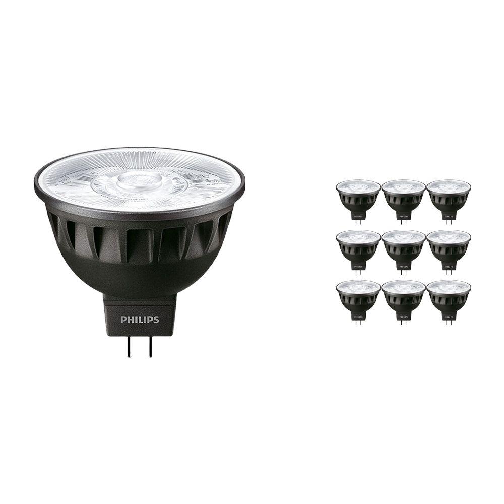 Voordeelpak 10x Philips LEDspot ExpertColor GU5.3 MR16 6.5W 927 36D (MASTER)   Hoogste Kleurweergave - Dimbaar - Vervanger voor 35W