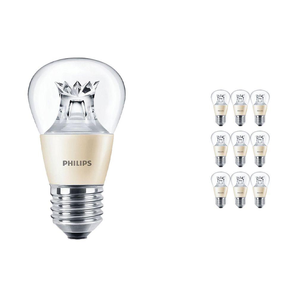 Voordeelpak 10x Philips LEDluster E27 P48 4W 827 Helder (MASTER) | DimTone Dimbaar - Vervanger voor 25W