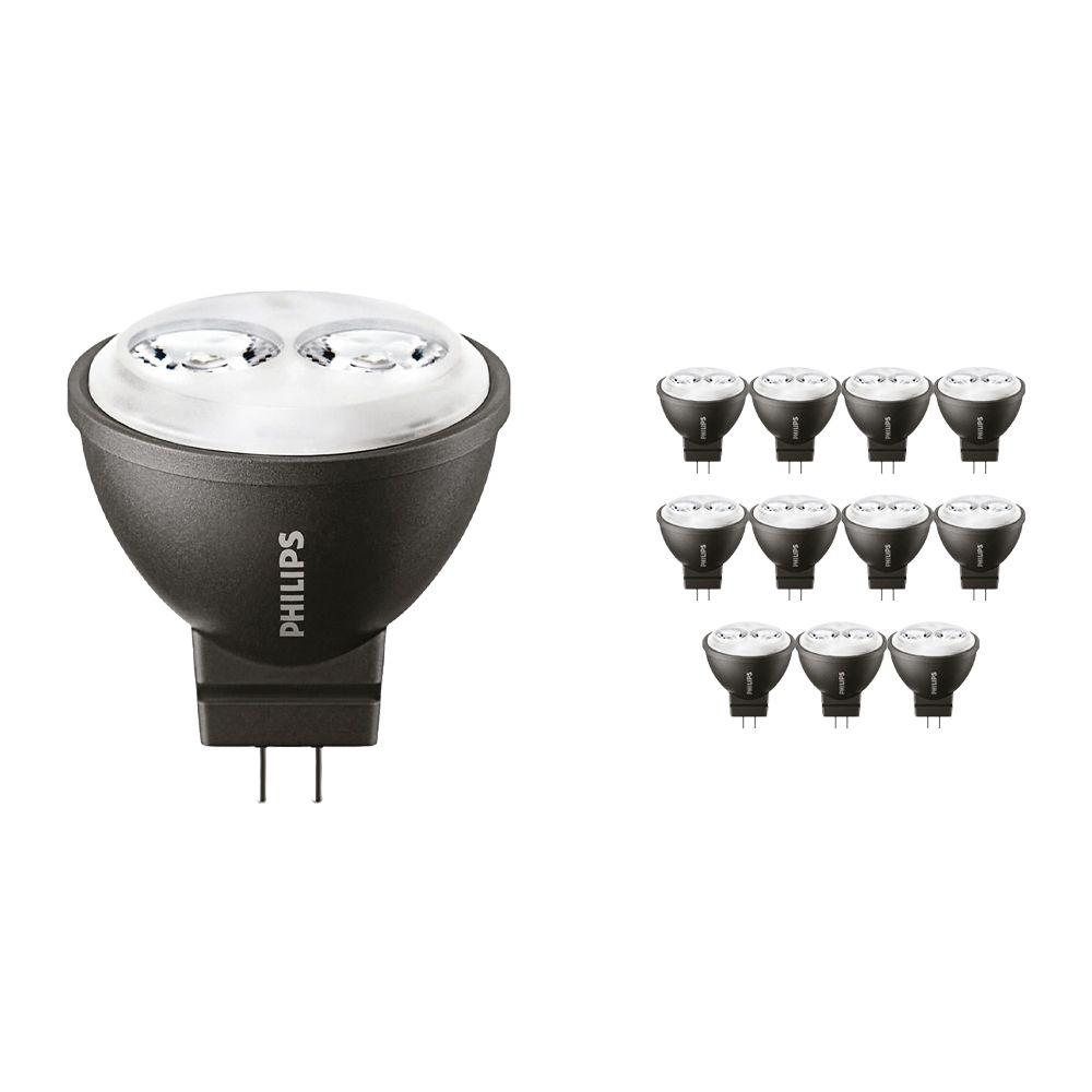 Voordeelpak 12x Philips LEDspot LV GU4 MR11 3.5W 827 24D (MASTER) | Vervanger voor 20W