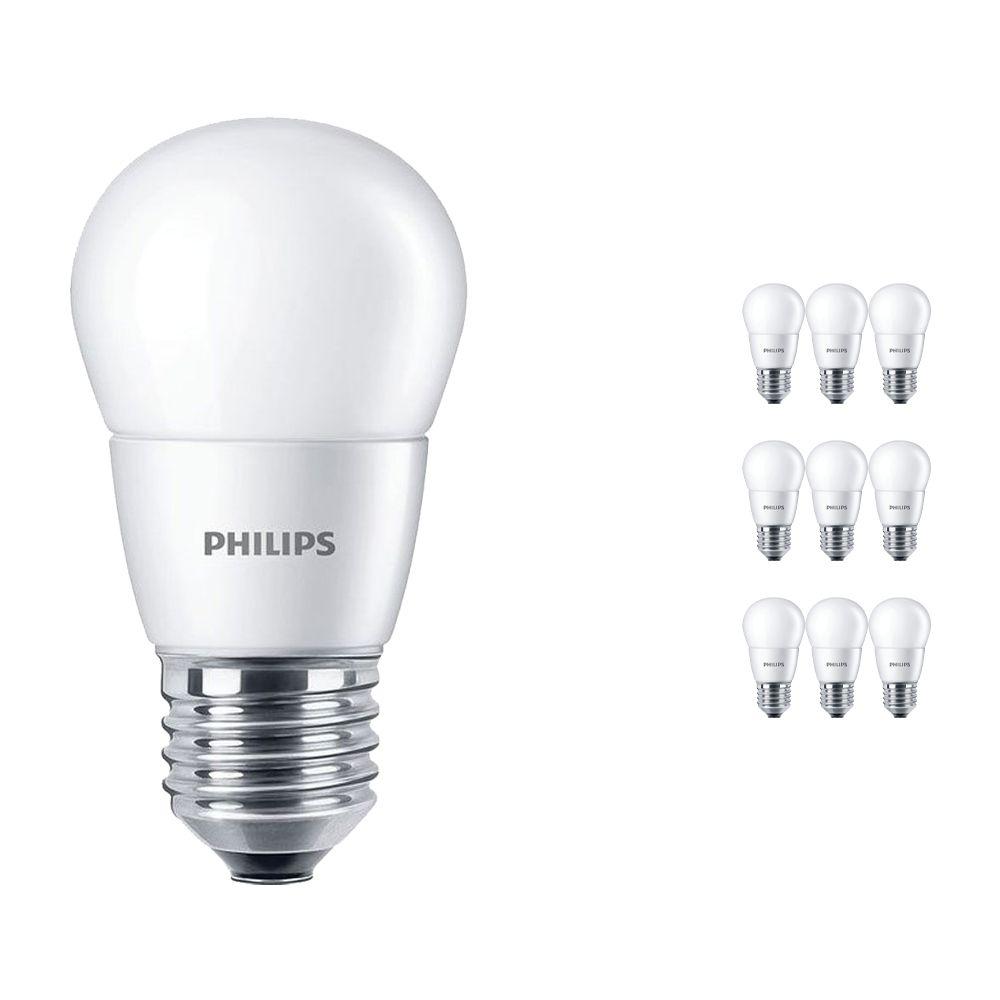 Voordeelpak 10x Philips CorePro LEDlustre E27 P48 7W 827 Mat | Vervanger voor 60W