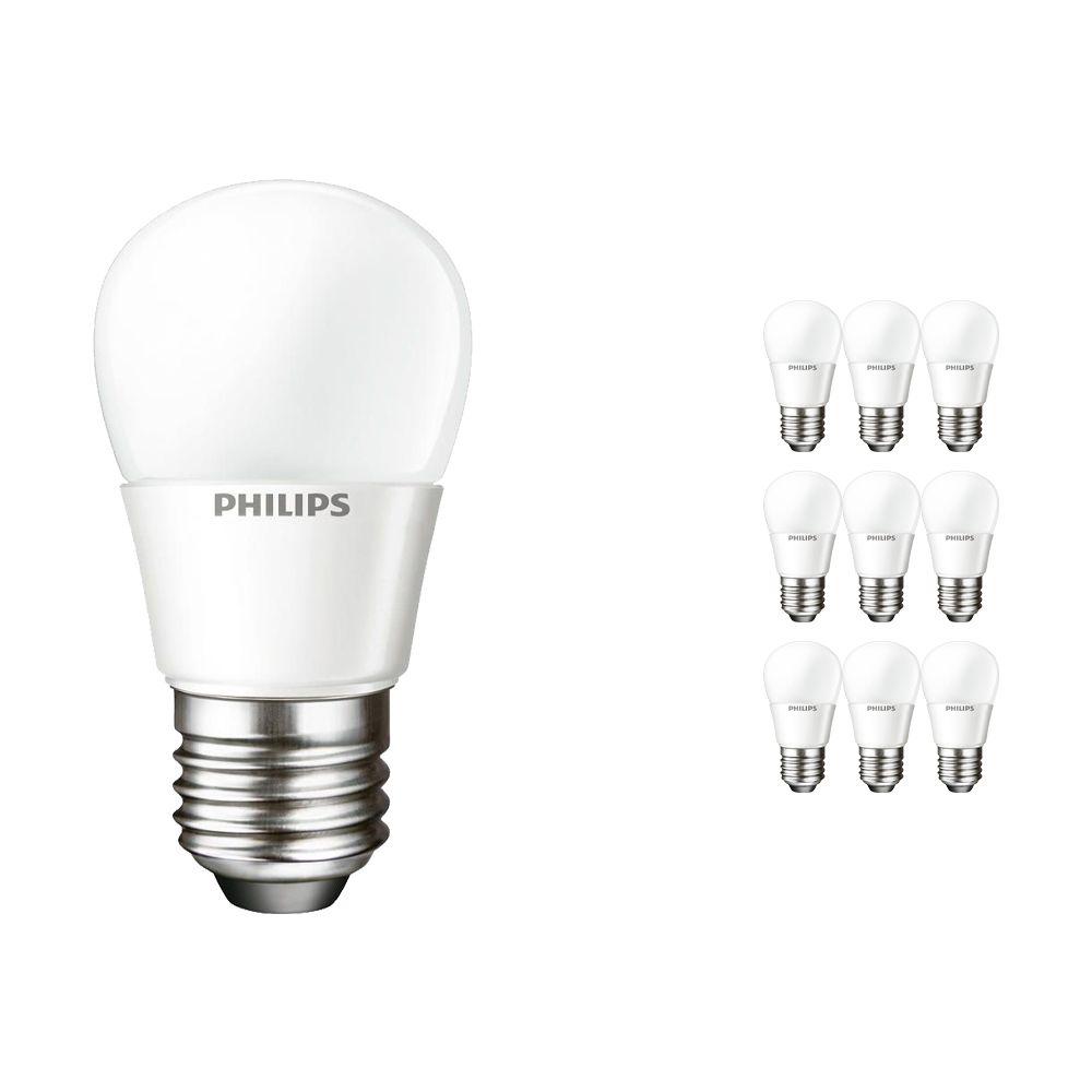 Voordeelpak 10x Philips CorePro LEDluster E27 P45 4W 827 Matt   Vervanger voor 25W