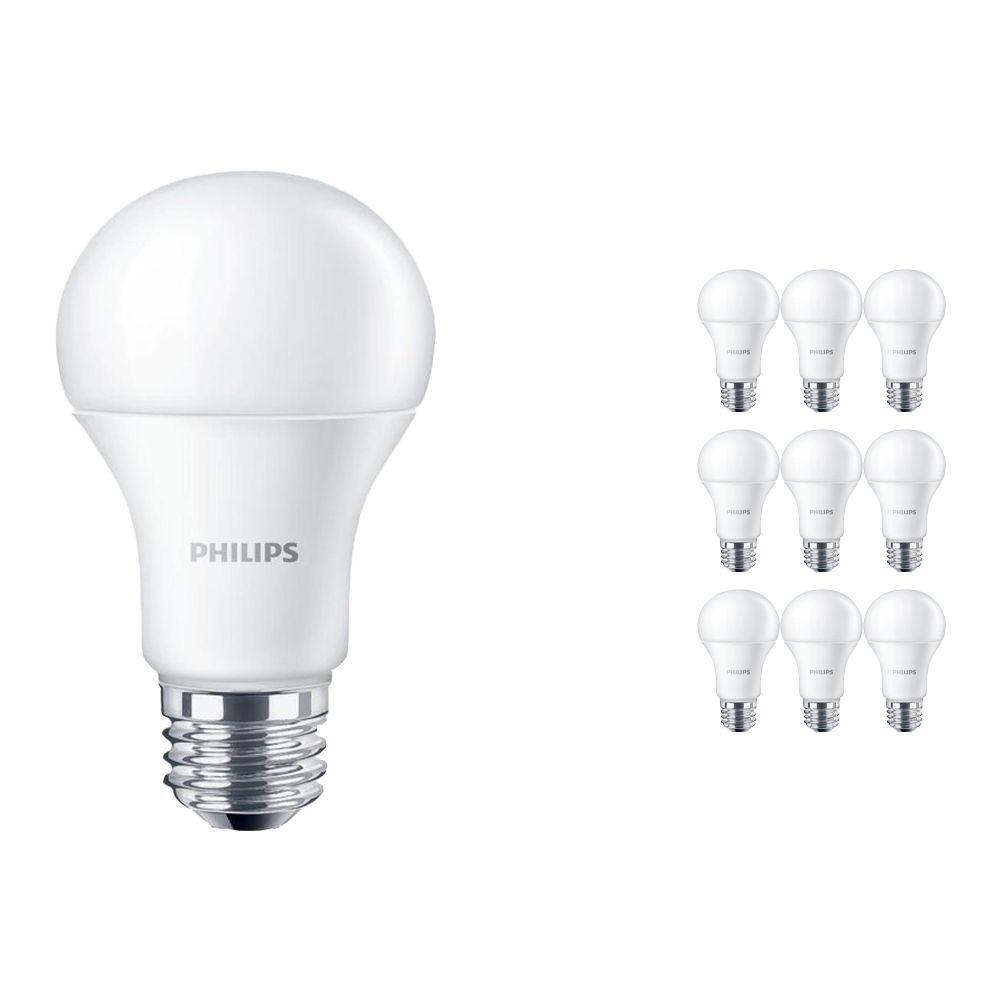 Voordeelpak 10x Philips CorePro LEDbulb E27 A60 10W 840 Matt | Vervanger voor 75W