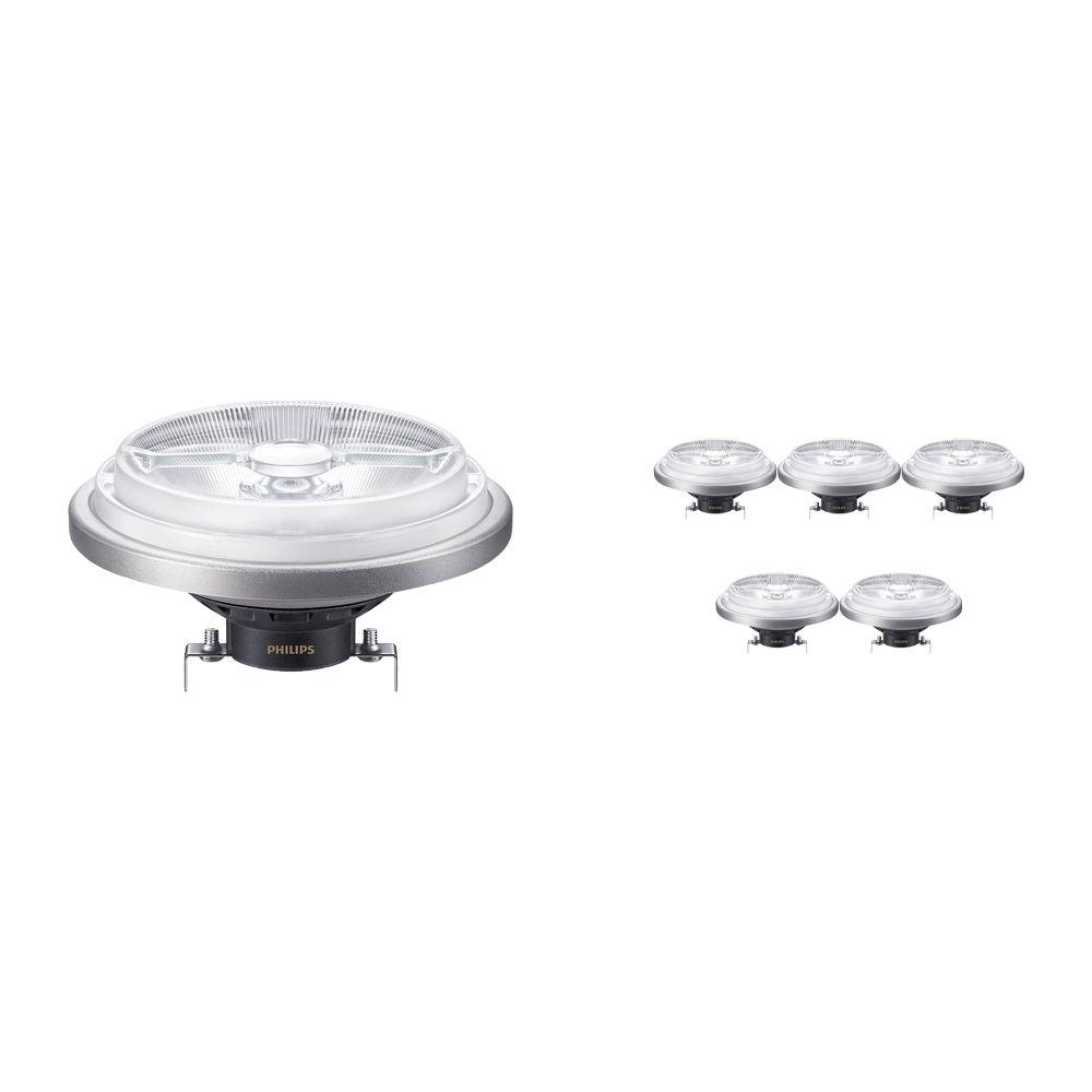 Voordeelpak 6x Philips LEDspot ExpertColor G53 AR111 (MASTER) 11W 927 8D   Beste Kleurweergave - Vervangt 50W