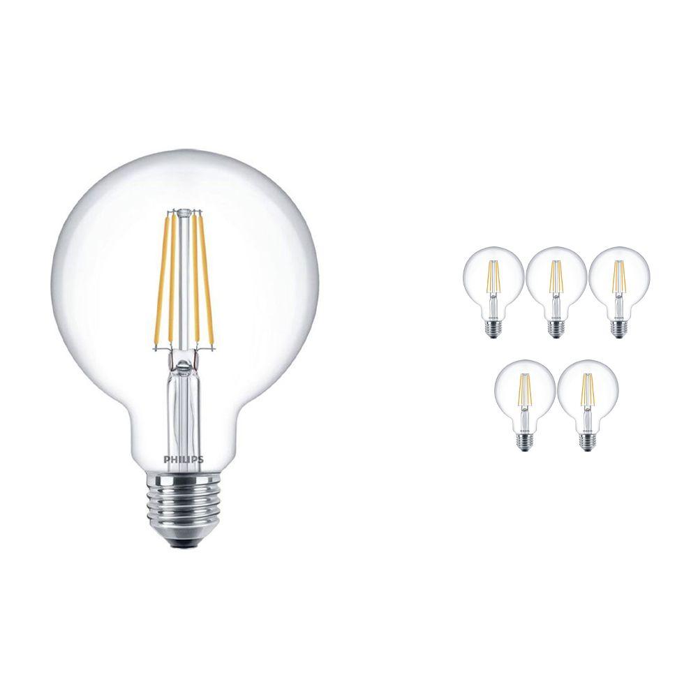 Voordeelpak 6x Philips Klassiek LEDglobe E27 G93 7W 827 Helder | Vervangt 60W