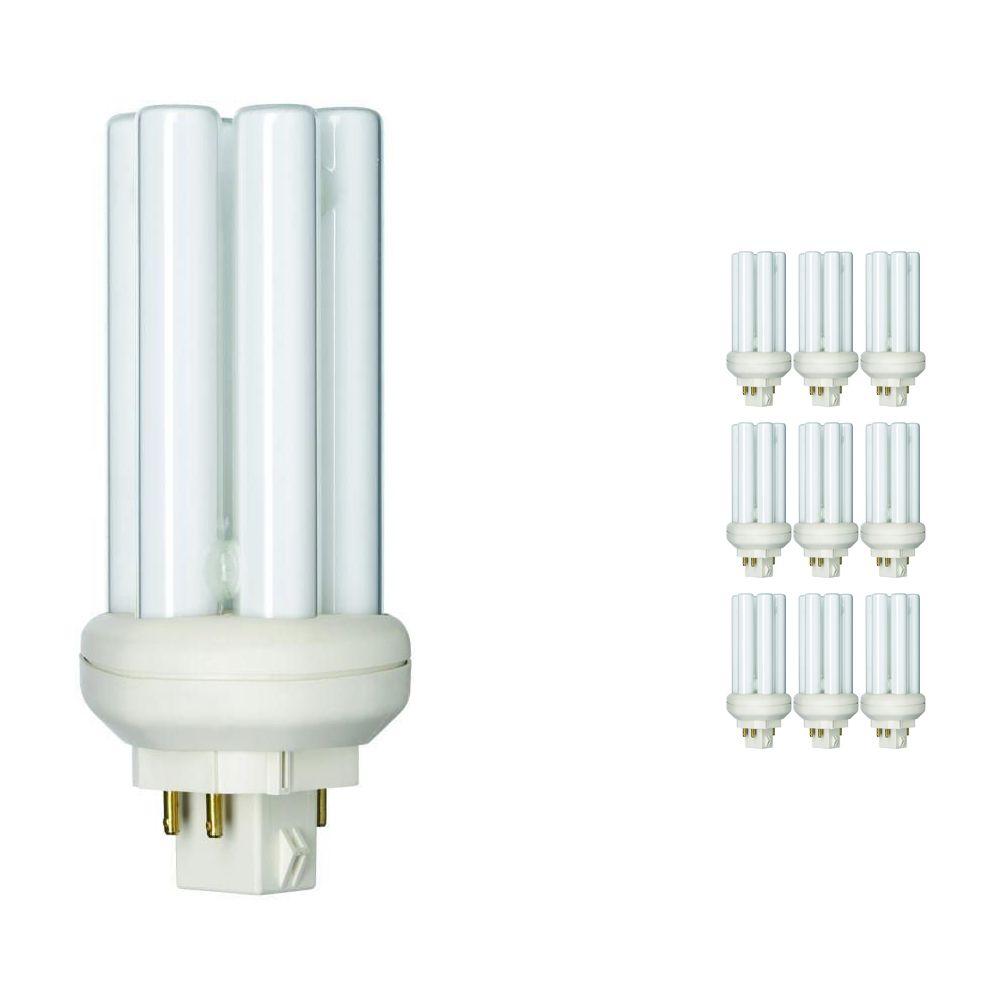 Voordeelpak 10x Philips PL-T 18W 830 4P (MASTER) | Warm Wit - 4-Pin