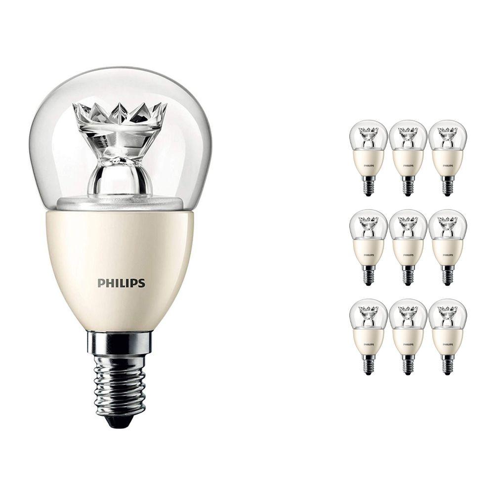 Voordeelpak 10x Philips LEDluster E14 P50 8W 827 Helder (MASTER) | DimTone Dimbaar - Vervangt 60W