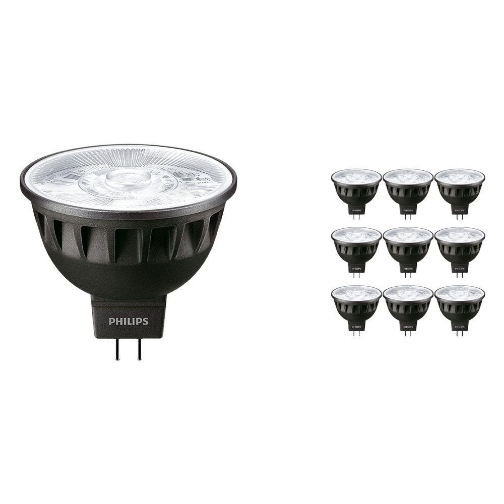 Voordeelpak 10x Philips LEDspot ExpertColor GU5.3 MR16 6.5W 930 10D (MASTER) | Warm Wit - Beste Kleurweergave - Dimbaar - Vervangt 35W