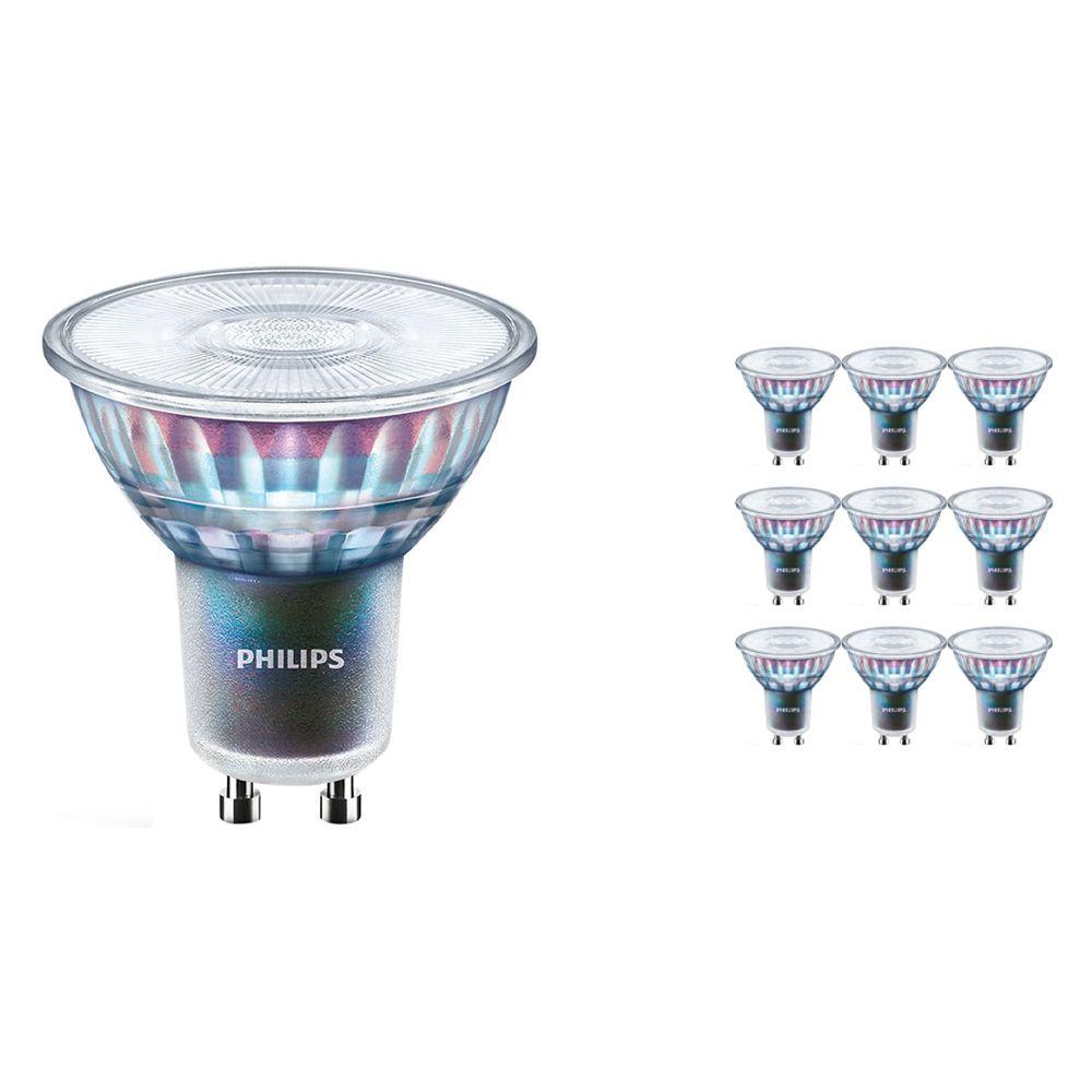 Voordeelpak 10x Philips LEDspot ExpertColor GU10 3.9W 930 25D (MASTER) | Beste Kleurweergave - Warm Wit - Dimbaar - Vervangt 35W