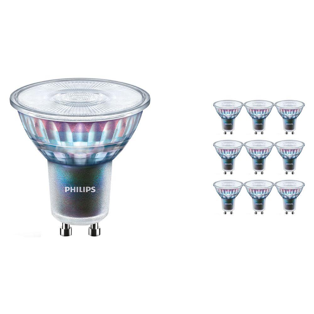Voordeelpak 10x Philips LEDspot ExpertColor GU10 5.5W 940 36D (MASTER) | Beste Kleurweergave - Koel Wit - Dimbaar - Vervangt 50W