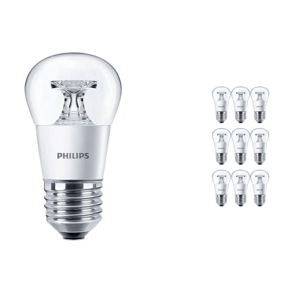 Voordeelpak 10x Philips CorePro LEDluster E27 P45 4W 827 Helder   Vervanger voor 25W