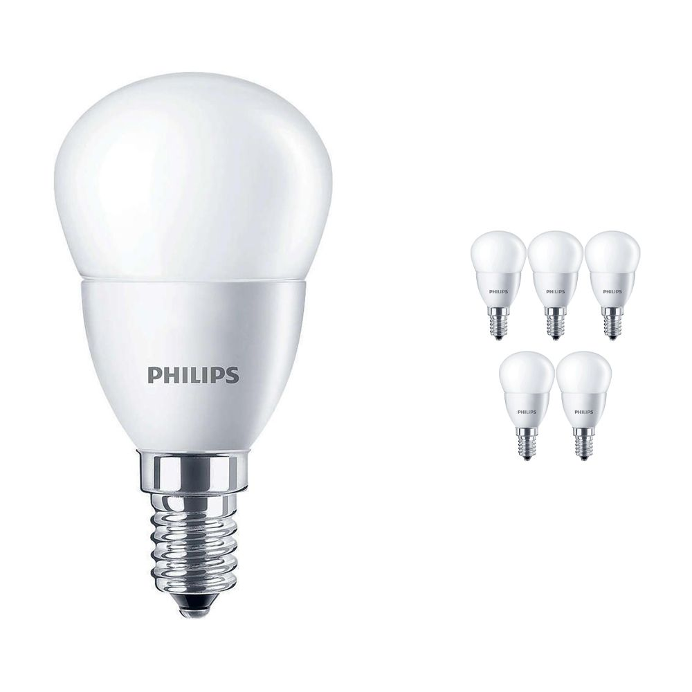 Voordeelpak 6x Philips CorePro LEDluster E14 P45 5.5W 827 Matt   Vervanger voor 40W