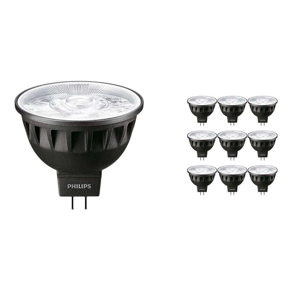 Voordeelpak 10x Philips LEDspot ExpertColor GU5.3 MR16 6.5W 930 60D (MASTER) | Hoogste Kleurweergave - Dimbaar - Vervanger voor 35W