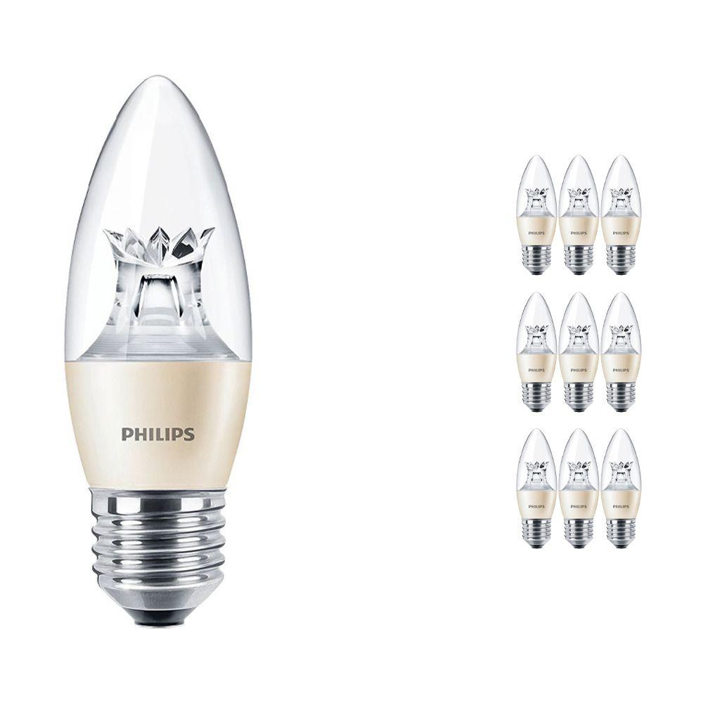 Voordeelpak 10x Philips LEDcandle E27 B38 6W 827 (MASTER)   DimTone Dimbaar - Vervanger voor 40W