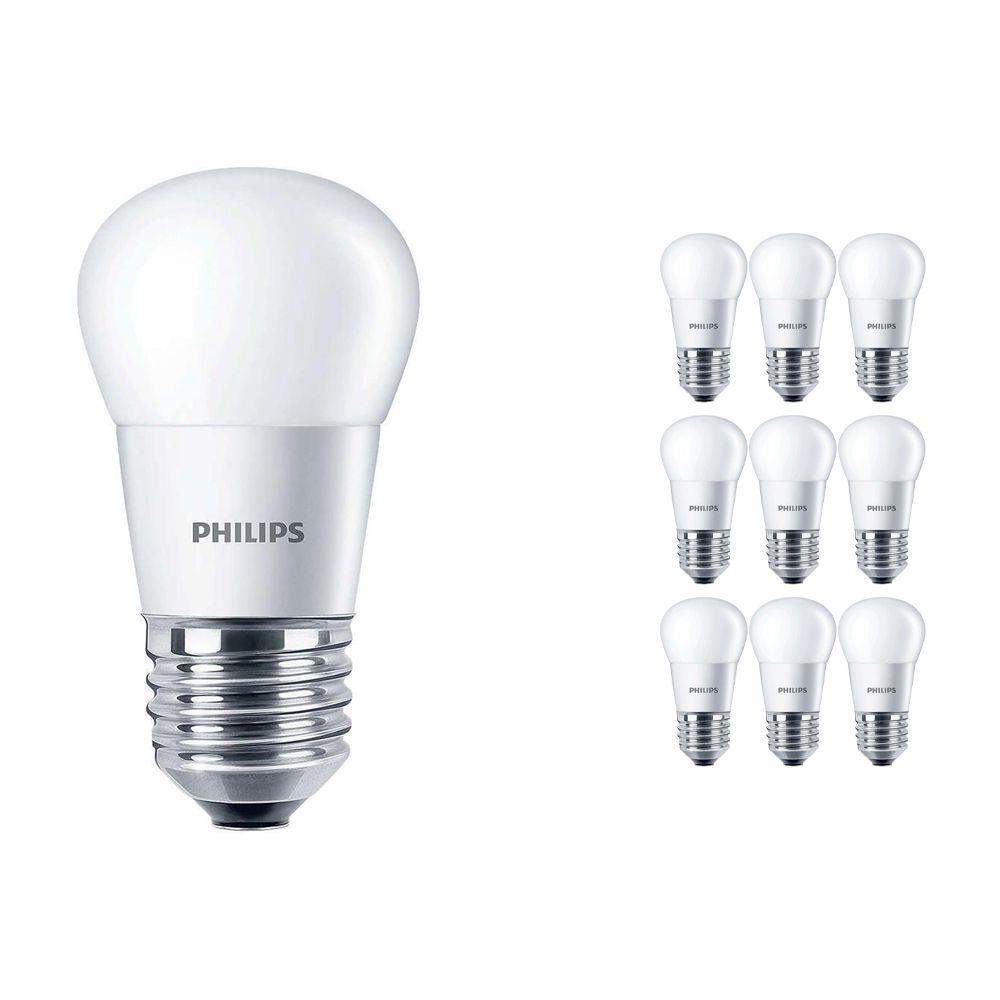 Voordeelpak 10x Philips CorePro LEDluster E27 P45 5.5W 827 Matt   Vervanger voor 40W