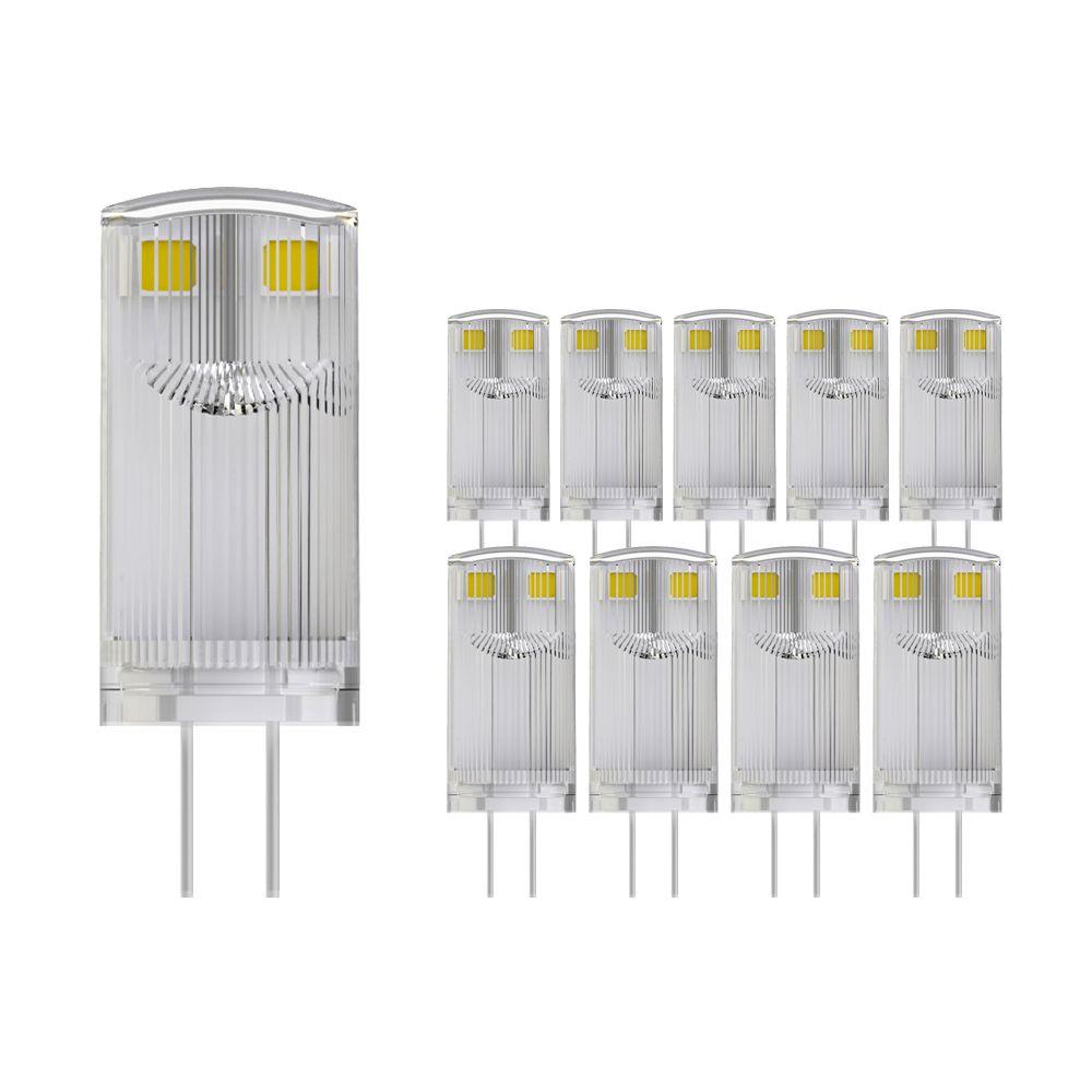 Voordeelpak 10X Noxion LED Bolt G4 0.9W 827 12V   Vervanger voor 10W