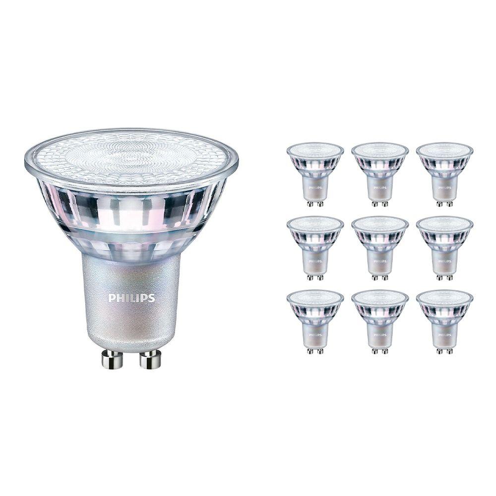 Voordeelpak 10x Philips LEDspot MV Value GU10 3.7W 940 36D (MASTER)   Hoogste Kleurweergave - Dimbaar - Vervanger voor 35W