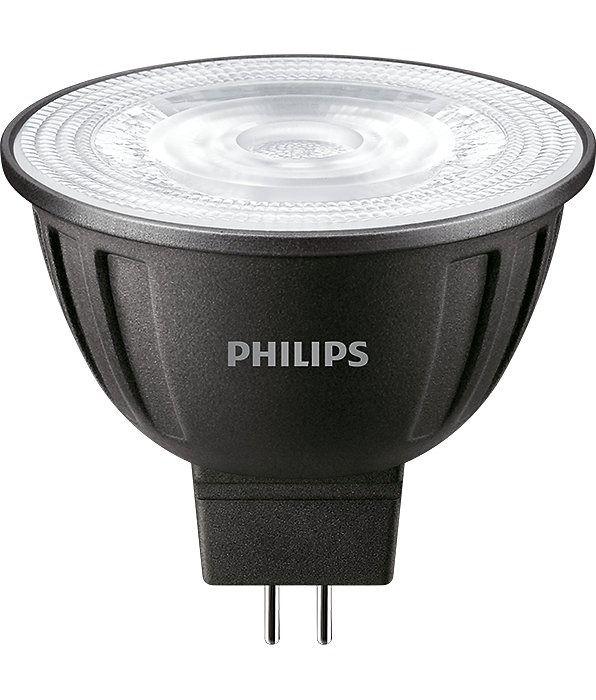 Philips LEDspot LV GU5.3 MR16 8W 827 24D MASTER   Dimbaar - Vervangt 50W