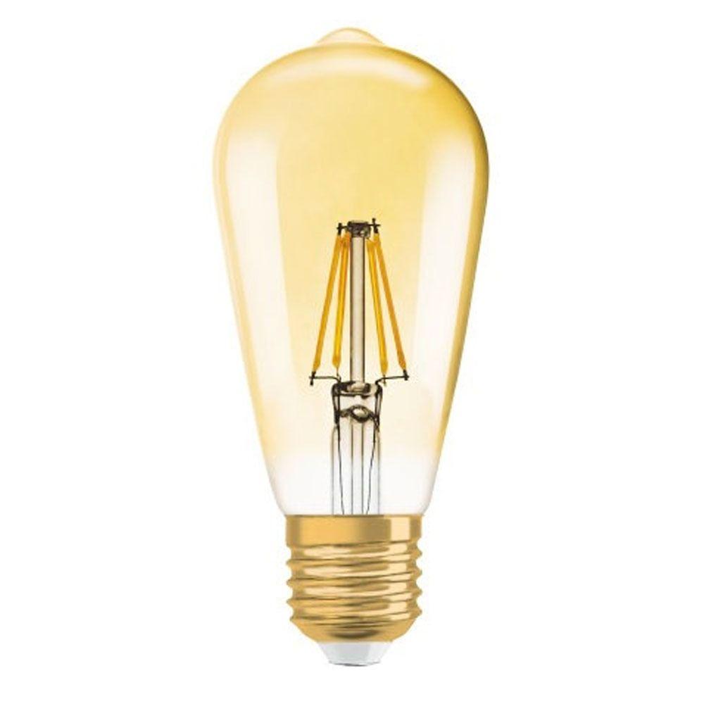 Osram Vintage 1906 LED E27 Edison 7W 825 Goud | Dimbaar - Vervanger voor 55W