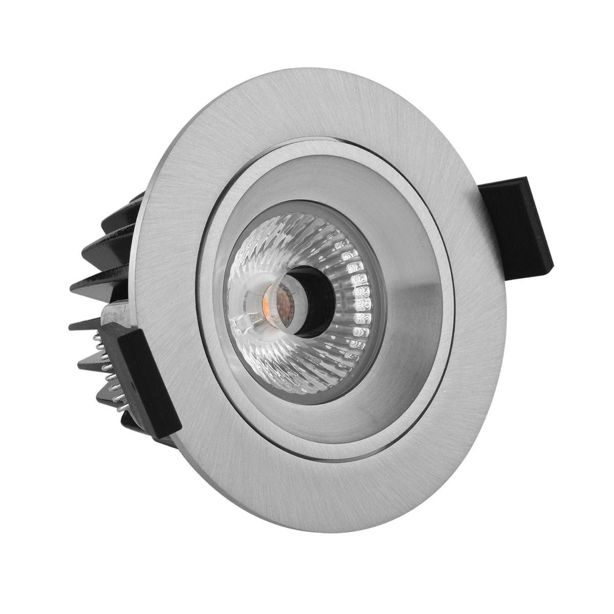 Noxion LED Spot Diamond IP44 2700K Aluminium   Dimbaar